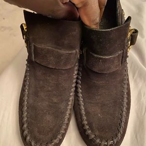 Tory Burch Booties with Gold buckles